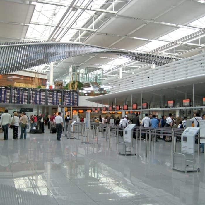 Visitors' flow analysis at Munich Airport