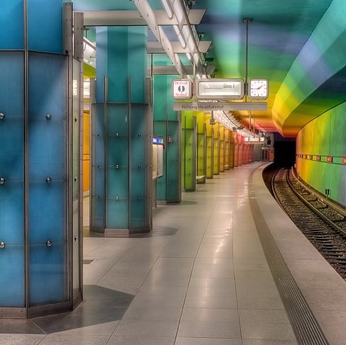 Pedestrian flow analysis of a Munich subway station