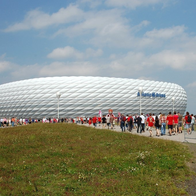 Räumungssimulation der Allianz Arena