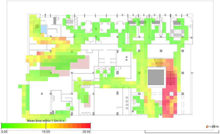 Social Distancing Heatmap