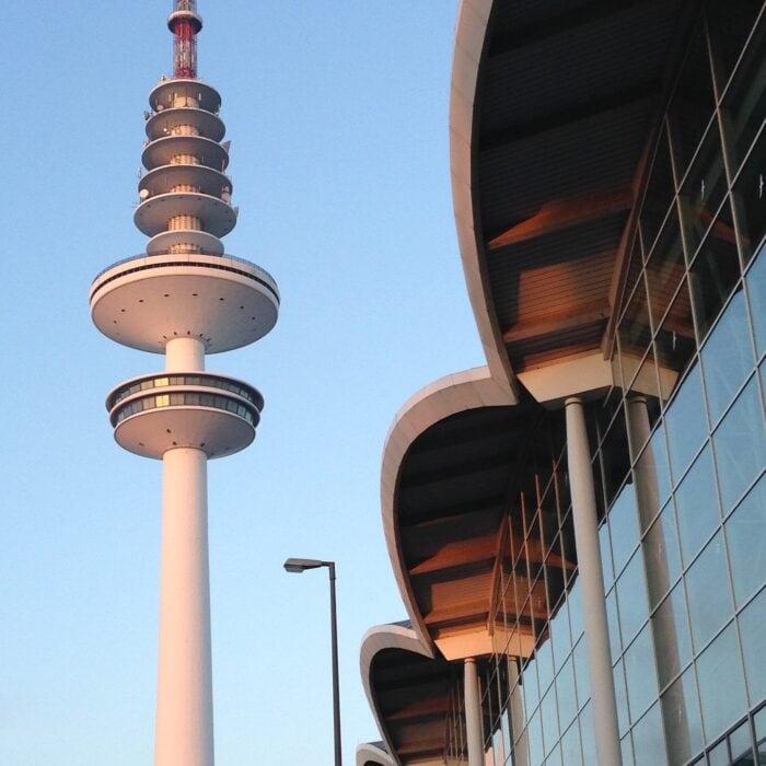 Social Distancing Simulation der Hamburg Messe und Congress